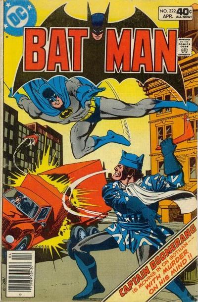 Cover for Batman (DC, 1940 series) #322