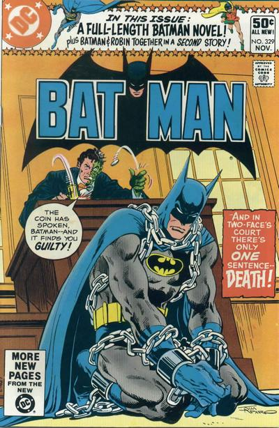 Cover for Batman (DC, 1940 series) #329 [Direct Sales]