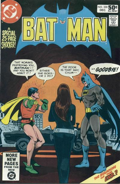 Cover for Batman (DC, 1940 series) #330 [Newsstand Edition]