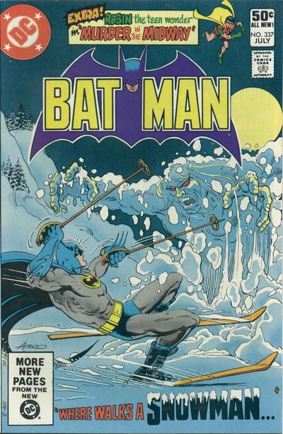 Cover for Batman (DC, 1940 series) #337 [Newsstand Edition]