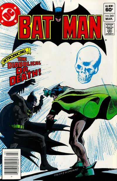 Cover for Batman (DC, 1940 series) #345 [Newsstand]