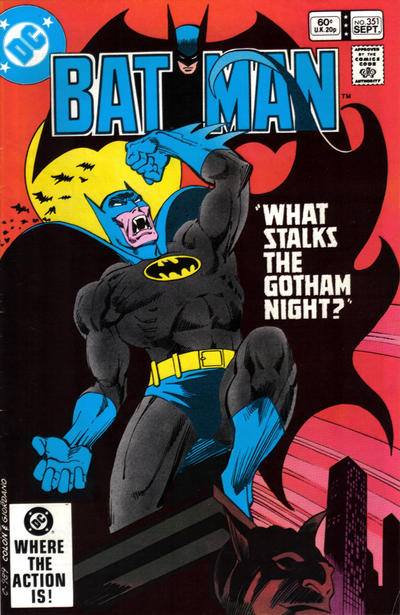 Cover for Batman (DC, 1940 series) #351 [Newsstand]