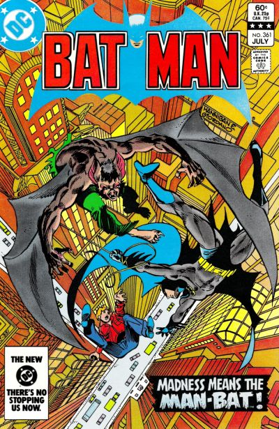 Cover for Batman (DC, 1940 series) #361 [Newsstand]