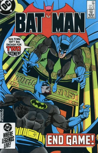 Cover for Batman (DC, 1940 series) #381 [Newsstand]