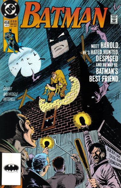 Cover for Batman (DC, 1940 series) #458