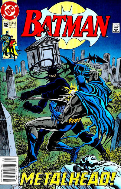 Cover for Batman (DC, 1940 series) #486 [Newsstand Variant]