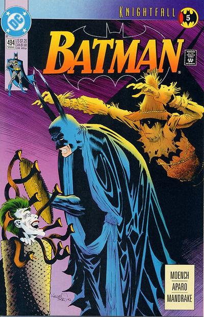 Cover for Batman (DC, 1940 series) #494 [Newsstand]