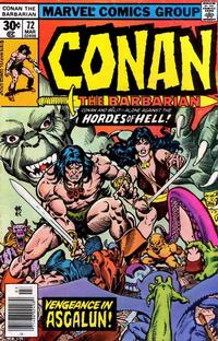 Cover Thumbnail for Conan the Barbarian (Marvel, 1970 series) #72 [Regular Edition]