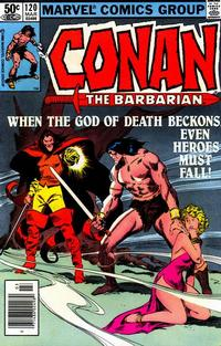 Cover Thumbnail for Conan the Barbarian (Marvel, 1970 series) #120 [Newsstand Edition]