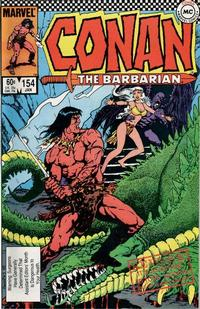 Cover Thumbnail for Conan the Barbarian (Marvel, 1970 series) #154 [Direct Edition]