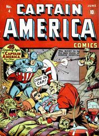 Cover Thumbnail for Captain America Comics (Marvel, 1941 series) #4