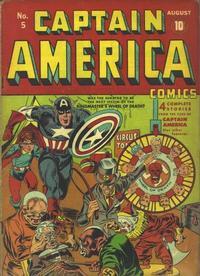 Cover Thumbnail for Captain America Comics (Marvel, 1941 series) #5