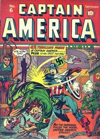 Cover for Captain America Comics (Marvel, 1941 series) #6