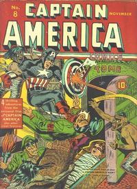 Cover Thumbnail for Captain America Comics (Marvel, 1941 series) #8