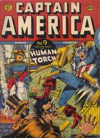 Cover Thumbnail for Captain America Comics (Marvel, 1941 series) #21