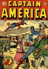 Cover Thumbnail for Captain America Comics (Marvel, 1941 series) #34