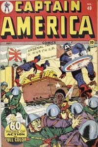 Cover Thumbnail for Captain America Comics (Marvel, 1941 series) #40