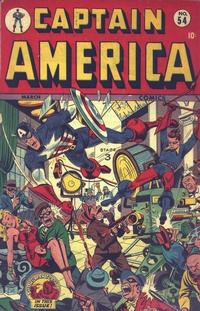 Cover Thumbnail for Captain America Comics (Marvel, 1941 series) #54