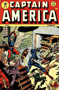 Cover Thumbnail for Captain America Comics (Marvel, 1941 series) #55