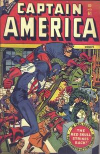 Cover Thumbnail for Captain America Comics (Marvel, 1941 series) #61