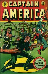 Cover for Captain America Comics (Marvel, 1941 series) #63