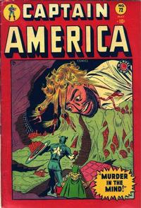 Cover Thumbnail for Captain America Comics (Marvel, 1941 series) #72