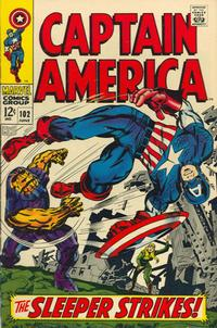 Cover Thumbnail for Captain America (Marvel, 1968 series) #102