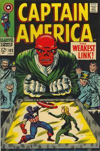 Cover Thumbnail for Captain America (Marvel, 1968 series) #103