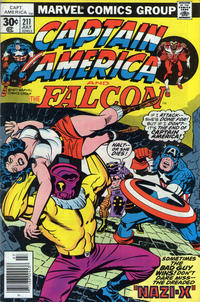 Cover Thumbnail for Captain America (Marvel, 1968 series) #211 [30¢ Cover Price]