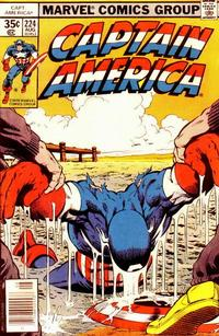 Cover Thumbnail for Captain America (Marvel, 1968 series) #224 [Regular Edition]