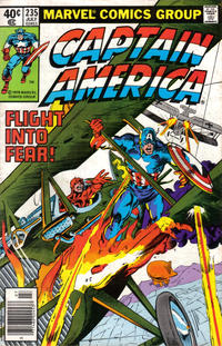Cover for Captain America (Marvel, 1968 series) #235 [British Price Variant]