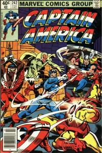 Cover Thumbnail for Captain America (Marvel, 1968 series) #242 [Newsstand Edition]