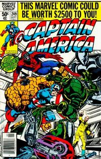 Cover Thumbnail for Captain America (Marvel, 1968 series) #249 [Newsstand]