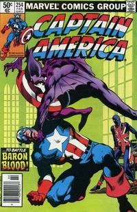 Cover Thumbnail for Captain America (Marvel, 1968 series) #254 [Newsstand Edition]