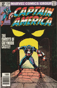 Cover Thumbnail for Captain America (Marvel, 1968 series) #256 [Newsstand Edition]
