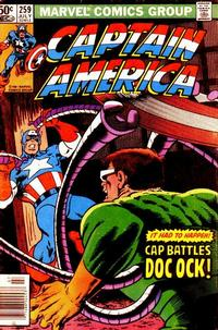 Cover Thumbnail for Captain America (Marvel, 1968 series) #259 [Newsstand Edition]