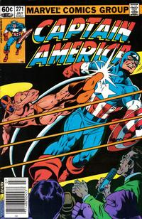Cover Thumbnail for Captain America (Marvel, 1968 series) #271 [Newsstand Edition]