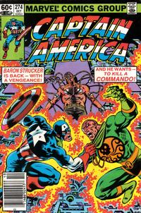 Cover for Captain America (Marvel, 1968 series) #274 [Direct Edition]