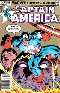Cover for Captain America (Marvel, 1968 series) #278 [Canadian Newsstand Edition]