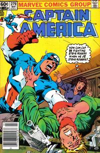 Cover for Captain America (Marvel, 1968 series) #279 [Direct Edition]