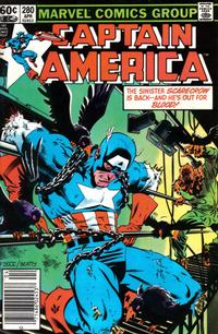 Cover Thumbnail for Captain America (Marvel, 1968 series) #280 [Newsstand Edition]