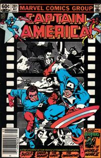 Cover Thumbnail for Captain America (Marvel, 1968 series) #281 [Newsstand Edition]