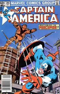 Cover Thumbnail for Captain America (Marvel, 1968 series) #285 [Newsstand Edition]