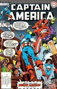 Cover Thumbnail for Captain America (Marvel, 1968 series) #289 [Direct Edition]