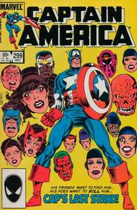 Cover Thumbnail for Captain America (Marvel, 1968 series) #299 [Direct Edition]