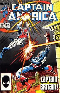 Cover Thumbnail for Captain America (Marvel, 1968 series) #305 [Direct Edition]