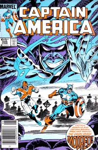 Cover Thumbnail for Captain America (Marvel, 1968 series) #306 [Newsstand Edition]