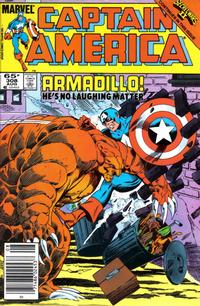 Cover Thumbnail for Captain America (Marvel, 1968 series) #308 [Newsstand Edition]