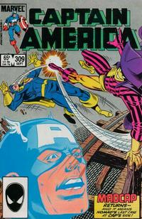 Cover for Captain America (Marvel, 1968 series) #309 [Direct Edition]