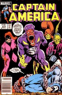 Cover Thumbnail for Captain America (Marvel, 1968 series) #315 [Newsstand Edition]